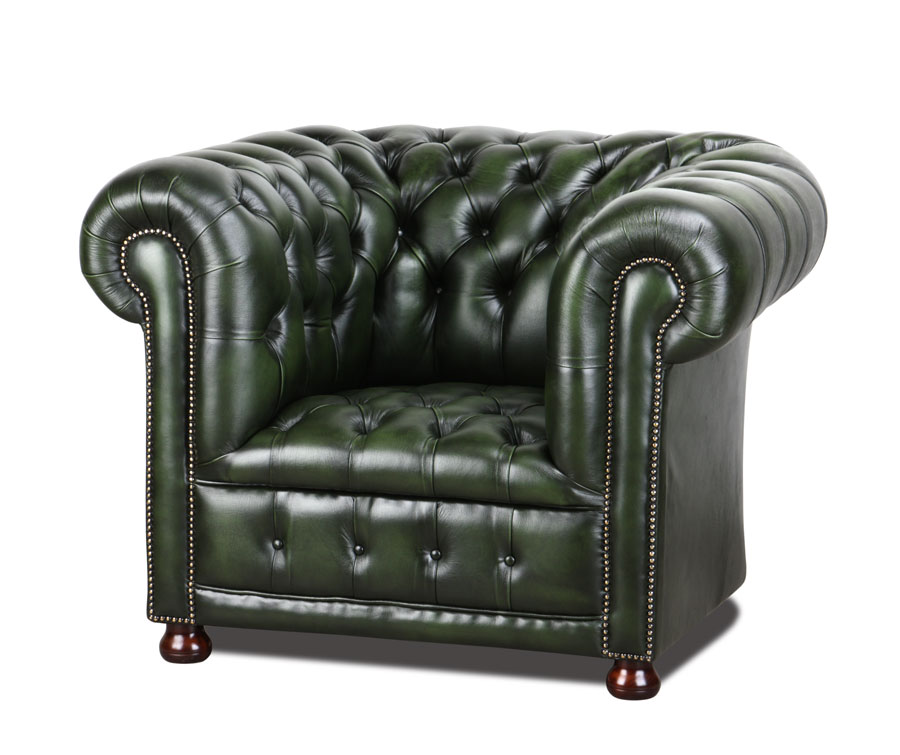 deluxe clubsessel in green. Black Bedroom Furniture Sets. Home Design Ideas