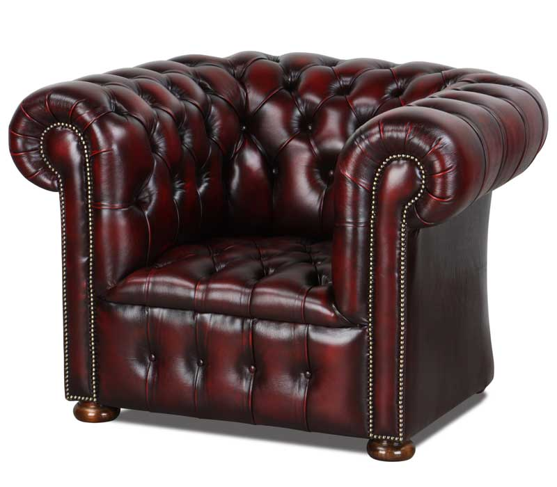 Originale Chesterfield Sessel Und Ohrensessel